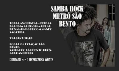 Faça aulas de samba rock no metrô São Bento; região central de SP #nota