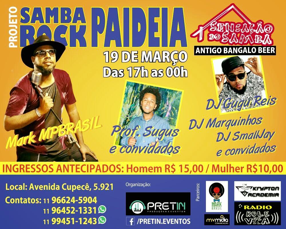 Samba Rock Paideia no Sensação do Samba em março #nota