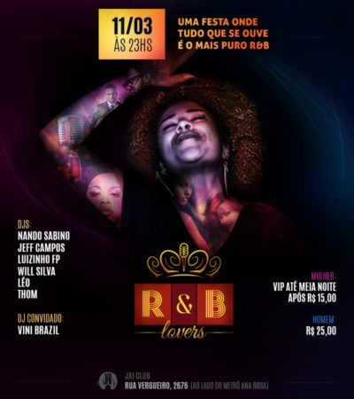 R&B Lovers traz samba rock na programação #nota