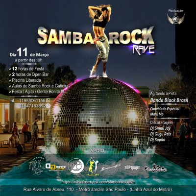 Samba Rock Rave acontece em março #nota