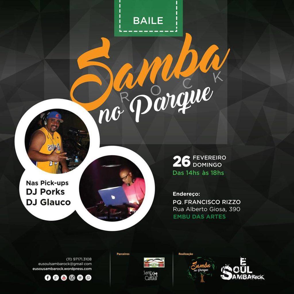 Domingo tem Samba Rock no Parque em Embu das Artes #nota