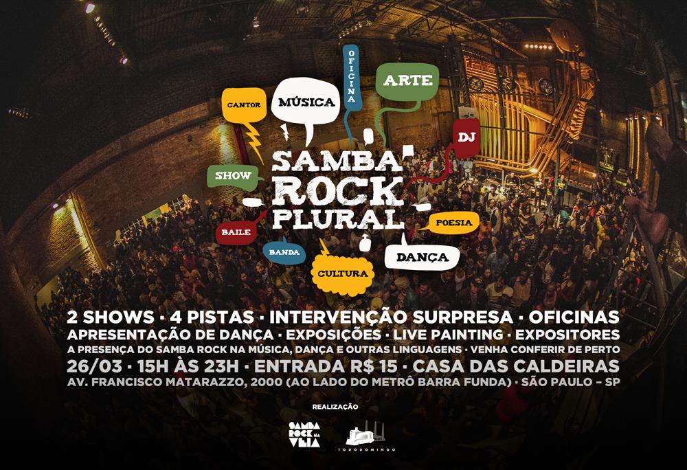 Primeiro Samba Rock Plural do ano vem repleto de atrações com programação e duração ampliadas