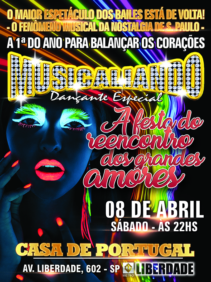 Musicaliando promove na Casa de Portugal a festa do reencontro dos grandes amores em abril #nota