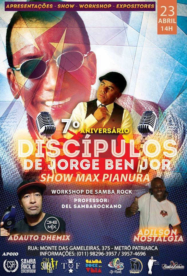 Equipe Discípulos de Jorge Ben Jor comemora aniversário com show, apresentações de dança e baile #nota