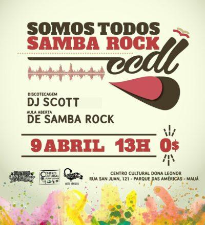 Somos Todos Samba Rock acontece no CCDL em Mauá #nota