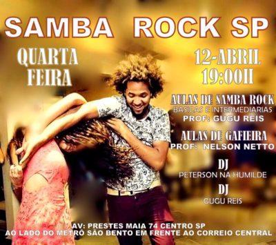 Acontece nesta quarta o Samba Rock SP na região central da cidade #nota