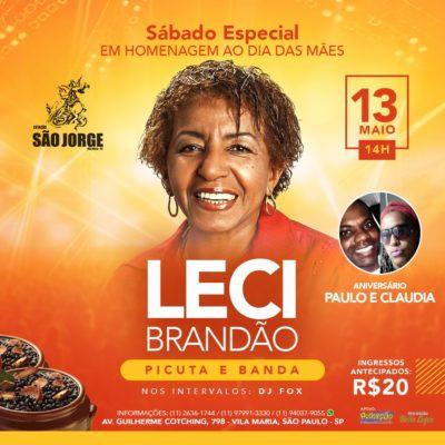 Leci Brandão realiza Sábado Especial em homenagem ao Dia das Mães no Estação São Jorge #nota