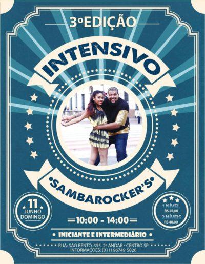 Curso intensivo de samba rock no próximo domingo com a equipe Sambarocker's #nota