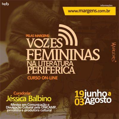 Vem aí o curso online Pelas margens: vozes femininas na literatura periférica #nota