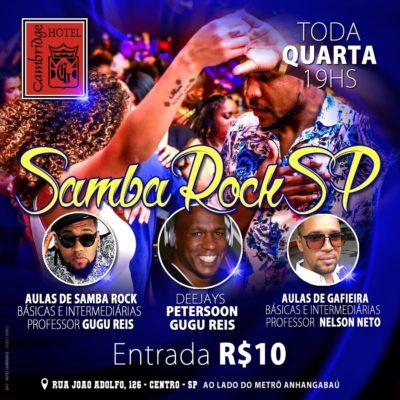 Toda quarta tem Samba Rock SP no Hotel Cambridge #nota
