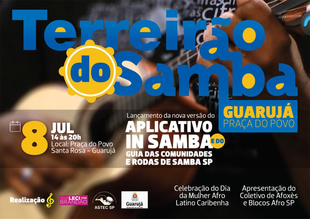 Terreirão do Samba no Guarujá traz várias atrações e destaca lançamento do app In Samba #nota