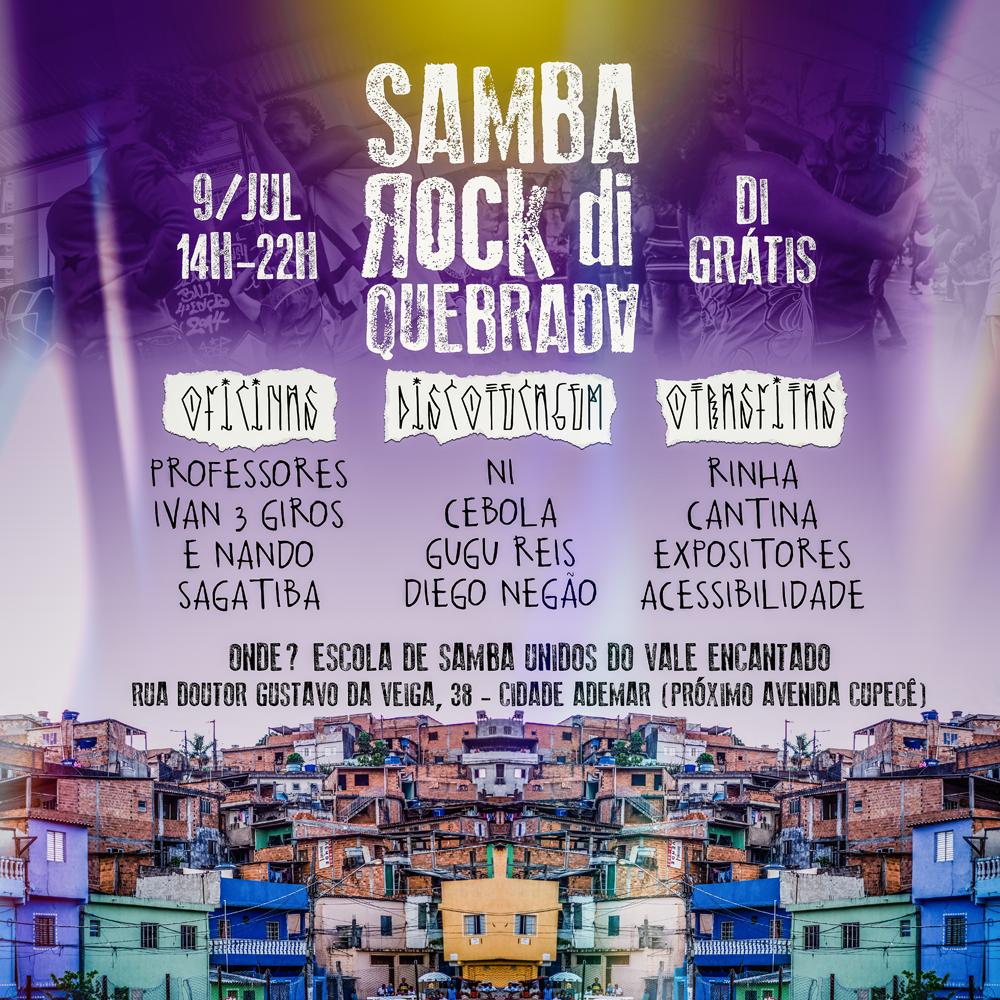 Samba Rock Di Quebrada marca presença neste domingo na Cidade Ademar pela primeira vez #nota