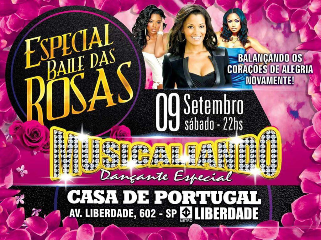 Em setembro tem Especial Baile das Rosas da equipe Musicaliando na Casa de Portugal #nota