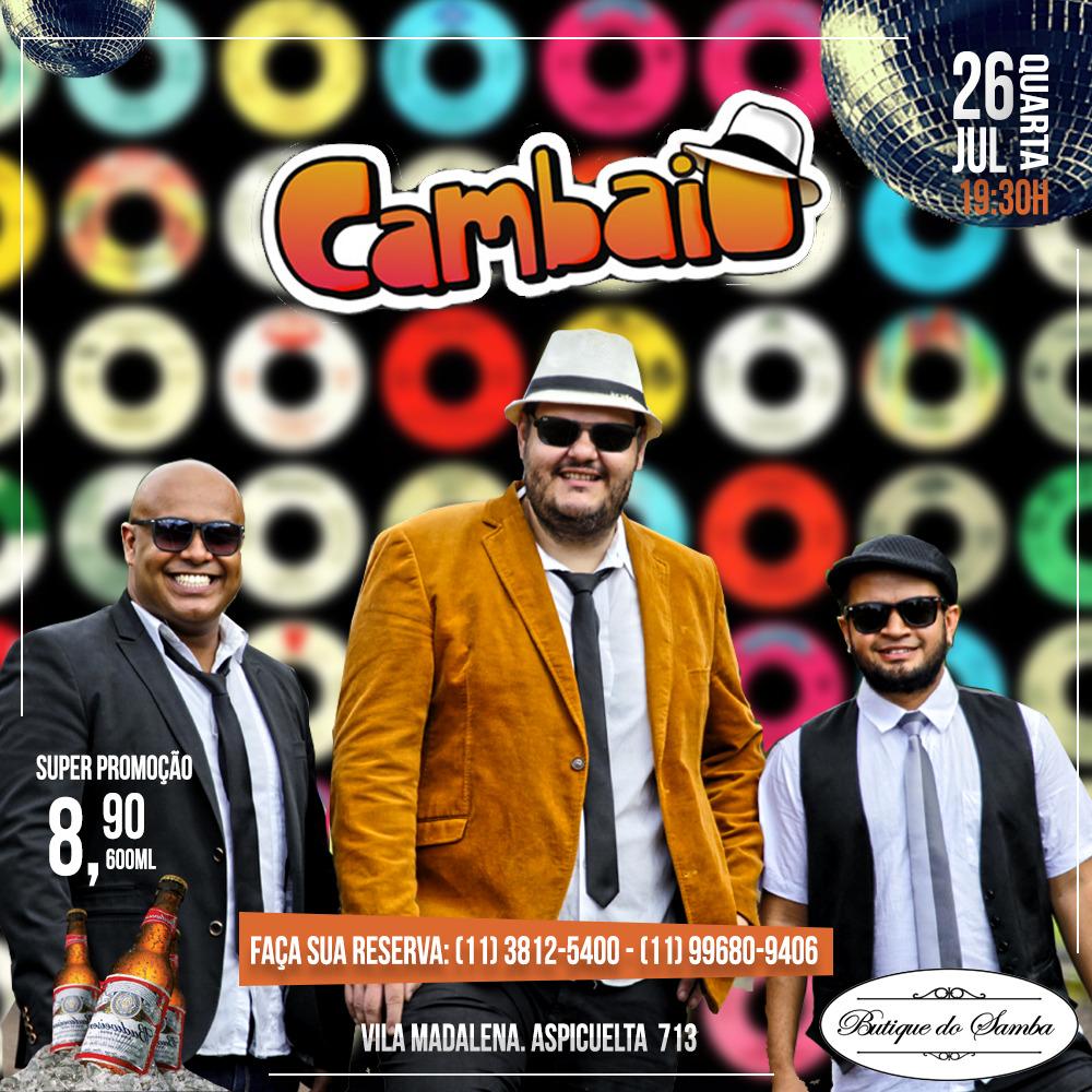 Banda Cambaio faz apresentação única na Vila Madalena esta semana #nota