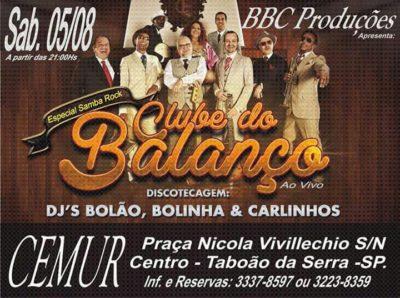 Clube do Balanço se apresenta na cidade de Taboão da Serra em noite de baile com discotecagem #nota