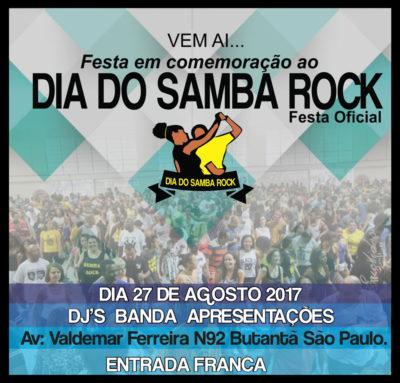 Festa em homenagem ao dia do samba rock acontecerá no Butantã #nota