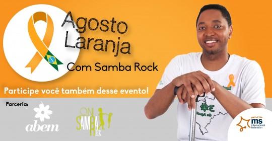 Agosto laranja com samba rock no Parque do Ibirapuera