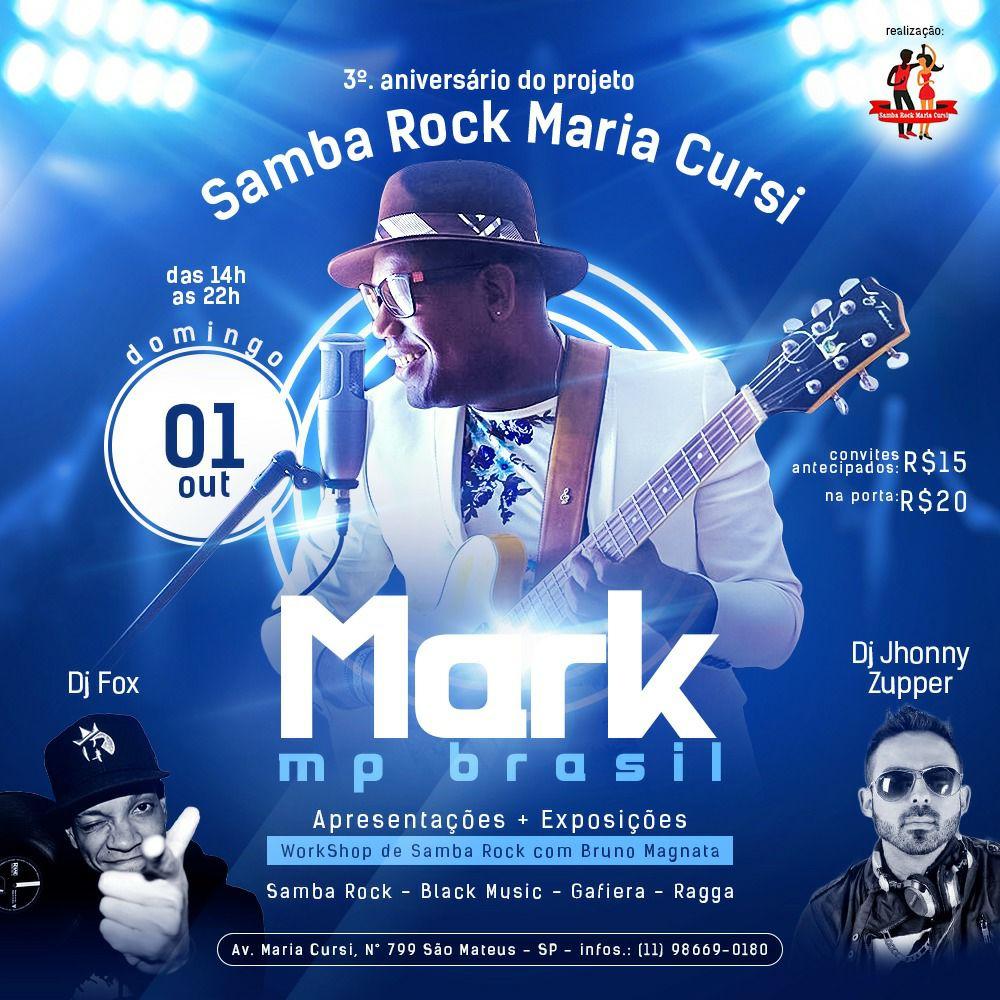 Samba Rock Maria Cursi comemora aniversário em outubro #nota