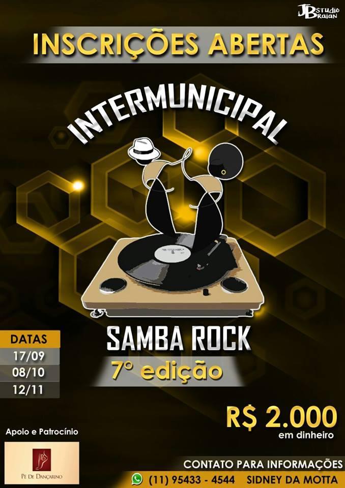 Estão abertas as inscrições para o Campeonato Intermunicipal de Samba Rock; Sétima edição #nota