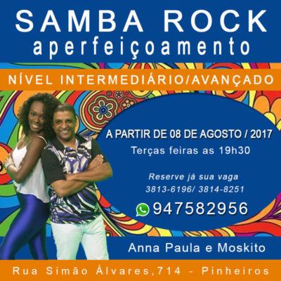 Curso de aperfeiçoamento de samba rock com Anna Paula e Moskito; Intermediário e avançado #nota