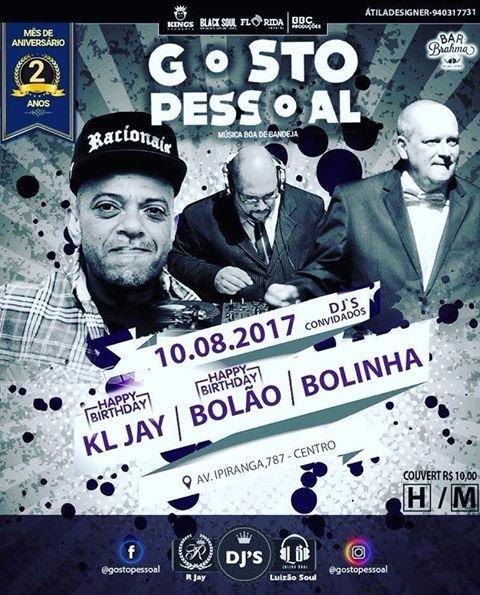Projeto Gosto Pessoal traz discotecagens de KL Jay, Bolão e Bolinha #nota