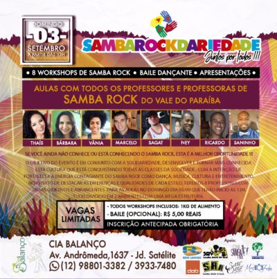 Sambarockdariedade promove evento em setembro com workshops, baile e apresentações #nota