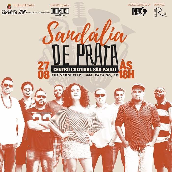 Banda Sandália de Prata faz apresentação especial no Centro Cultural São Paulo neste domingo #nota