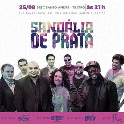 Santo André recebe show da banda Sandália de Prata nesta sexta #nota