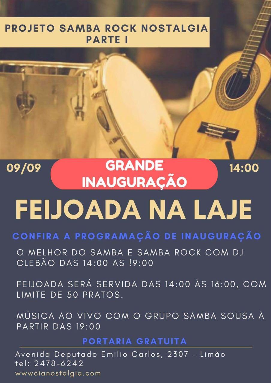 Inauguração do projeto Samba Rock Nostalgia Parte I com feijoada na laje  #nota