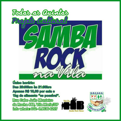 Todas as quintas tem aula de samba na quadra da Unidos de Vila Maria #nota