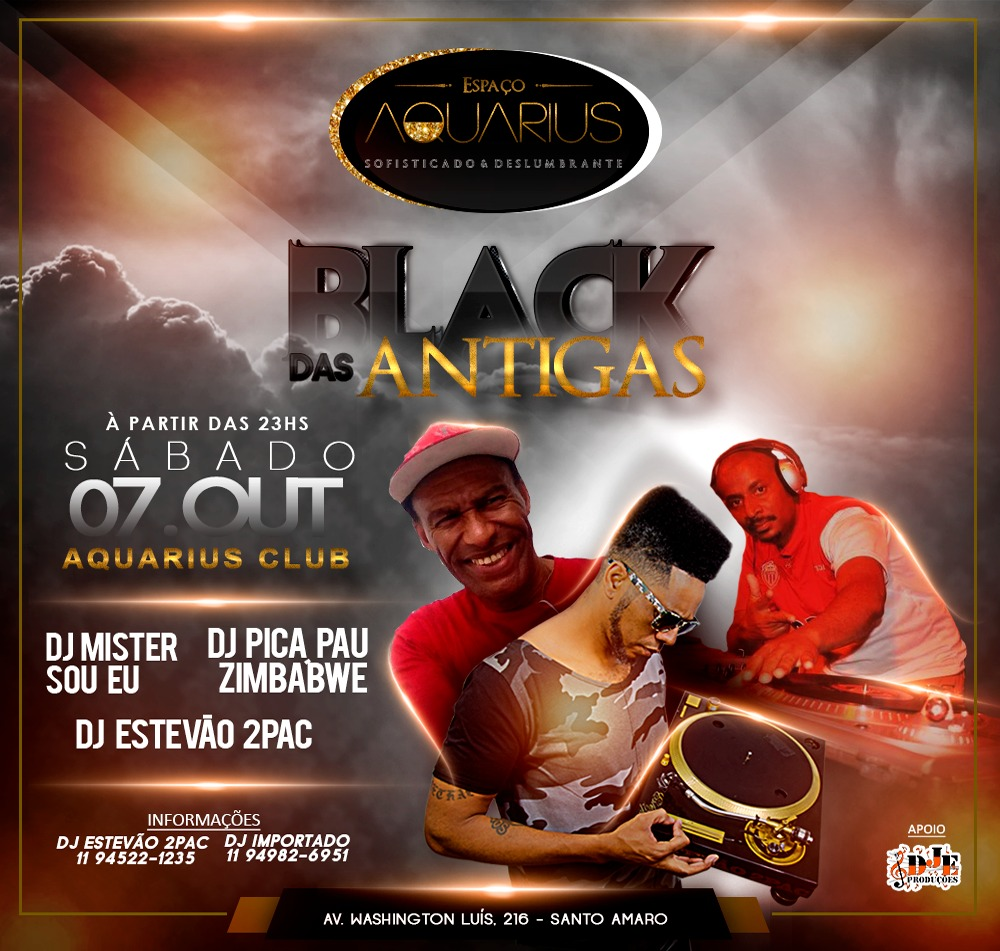 Black das Antigas com DJs no Espaço Aquarius #nota