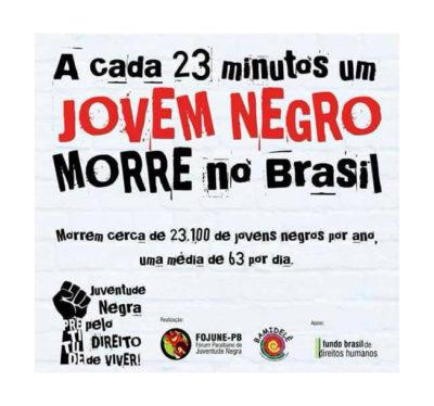 Alerta; A cada 23 minutos um jovem negro morre no Brasil #nota