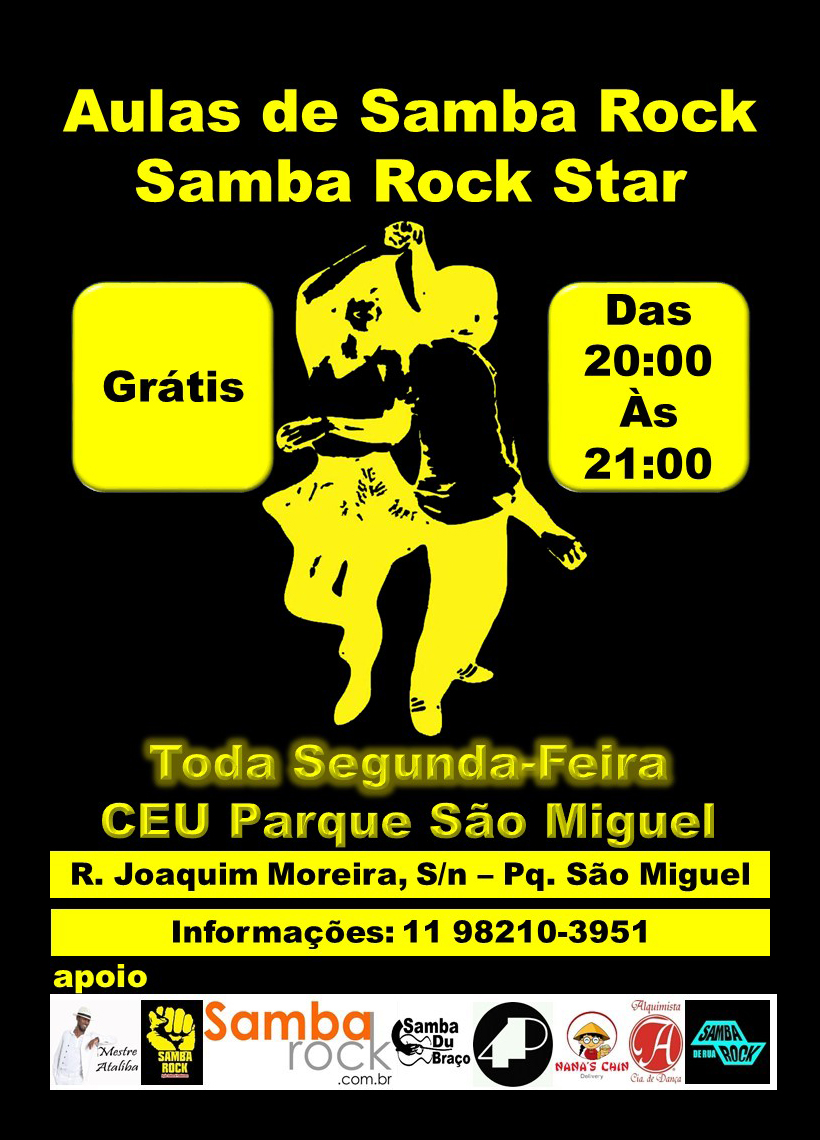 Samba Rock Star dá aulas gratuitas de samba rock toda segunda-feira  #nota