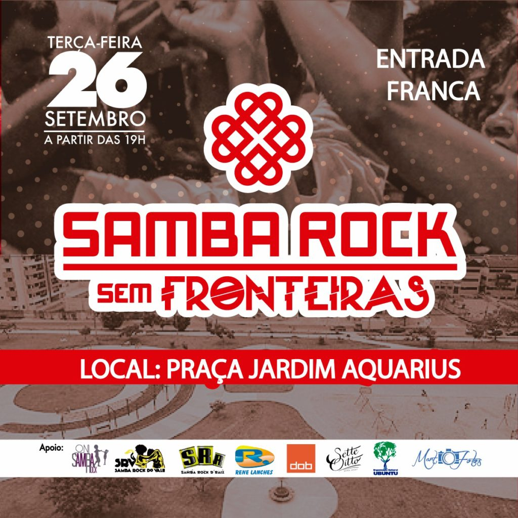 Praça Jardim Aquarius recebe Samba Rock Sem Fronteiras #nota