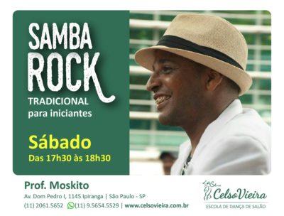 Professor Moskito dá aulas de samba rock tradicional para iniciantes na Celso Vieira #nota