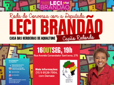 Leci Brandão participa de roda de conversa no Capão Redondo #nota