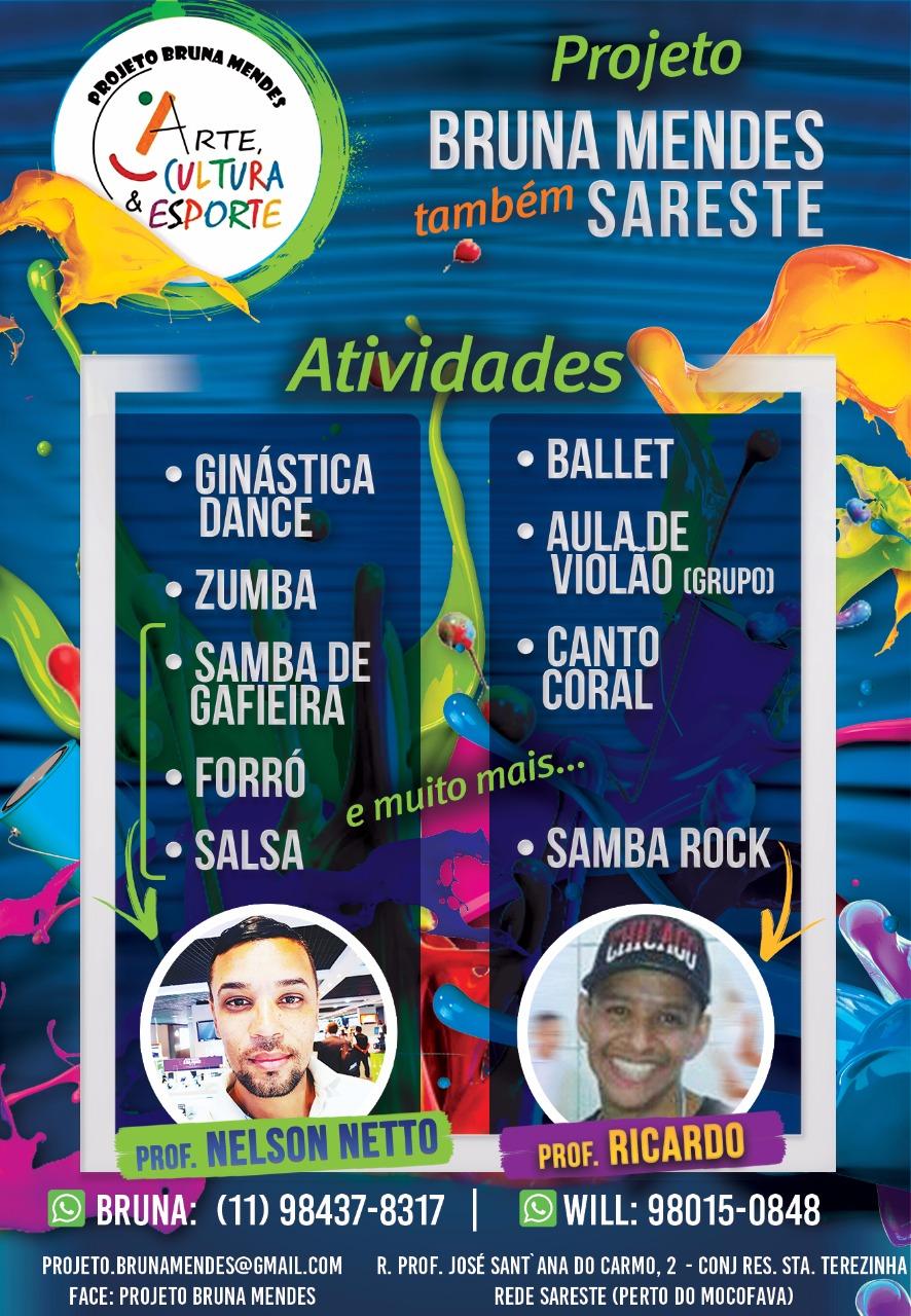 Professor Ricardo dá aulas de samba rock no Projeto Bruna Mendes Arte Cultura & Esporte #nota