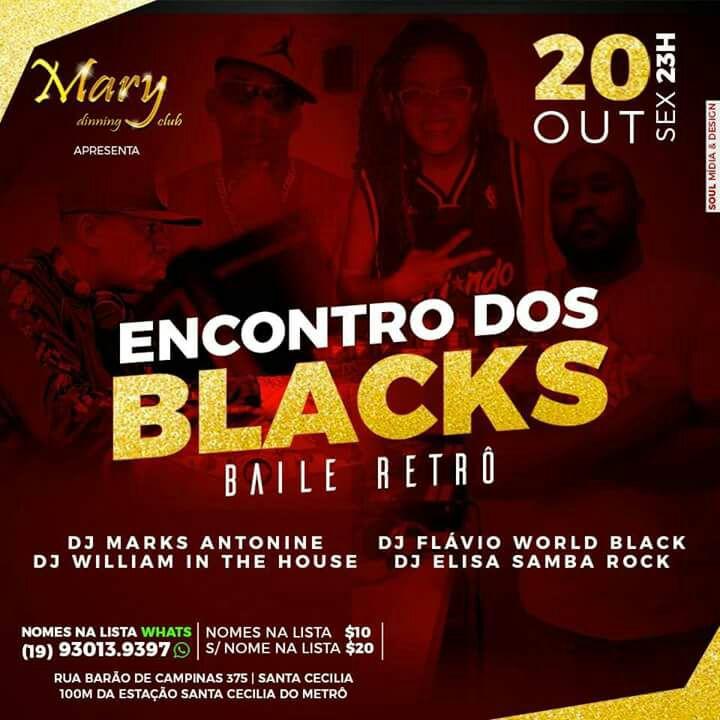 DJs realizam Encontro dos Blacks em Baile Retrô nesta sexta #nota