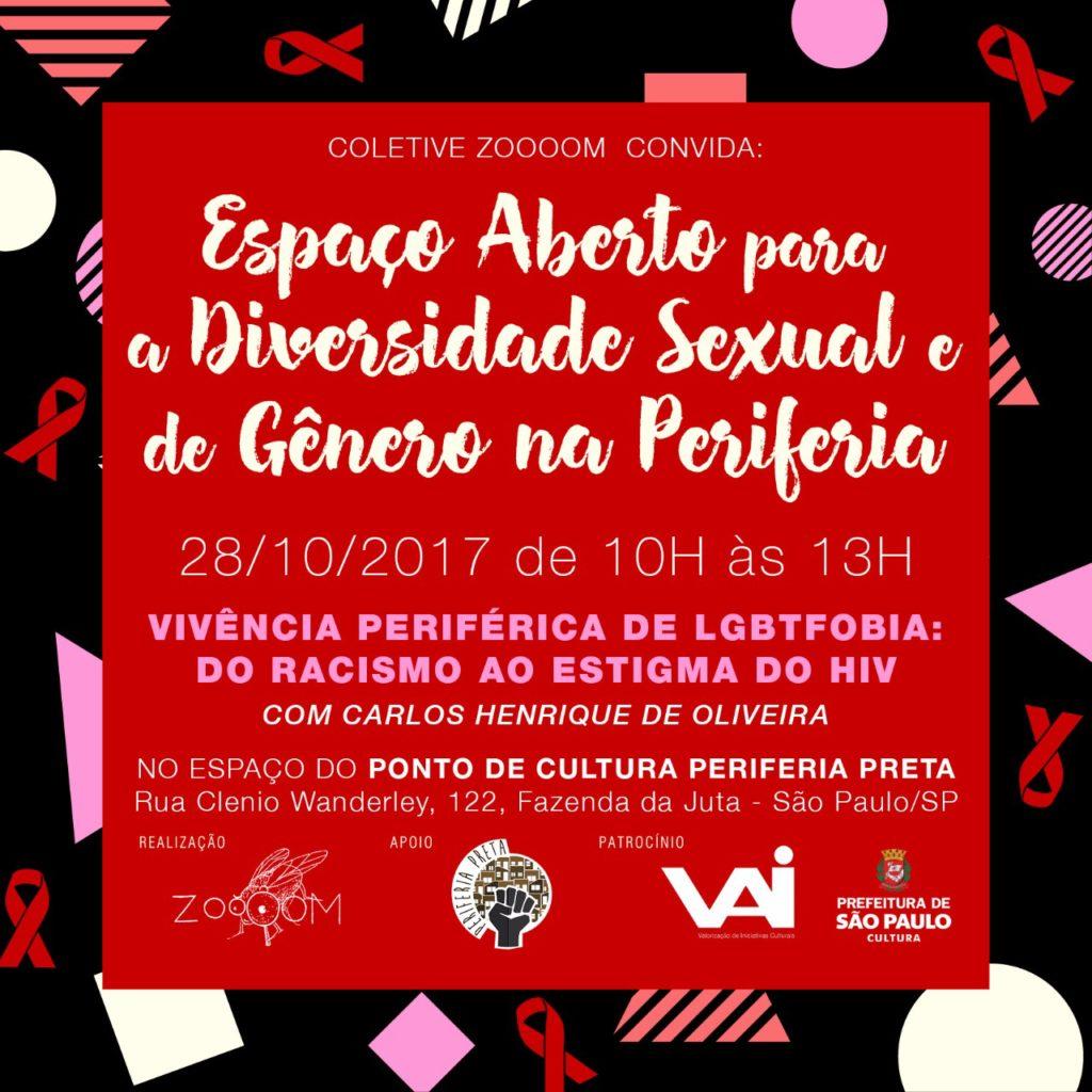 Evento promove Vivência Periférica de LGBTfobia abordando desde racismo ao estigma do HIV #nota