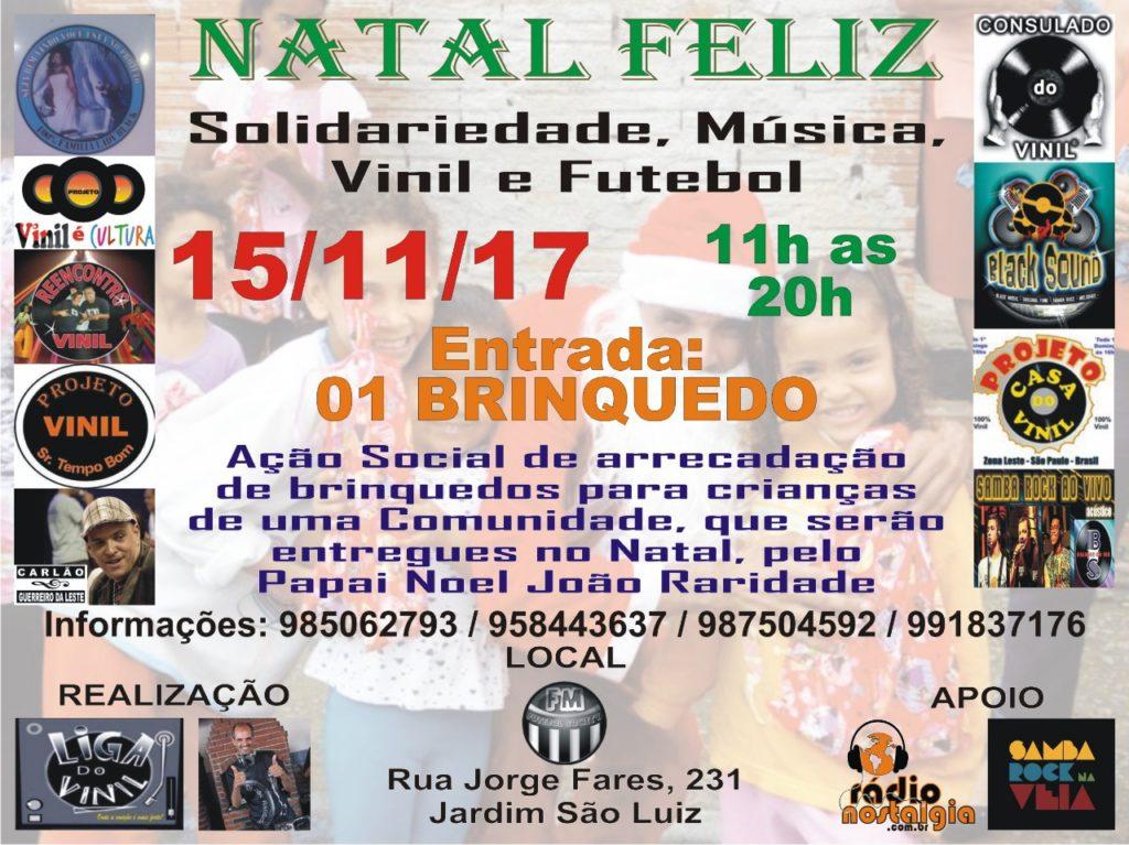 Projetos de discotecagem em vinil realizam Natal Feliz; Solidariedade, música, vinil e futebol #nota
