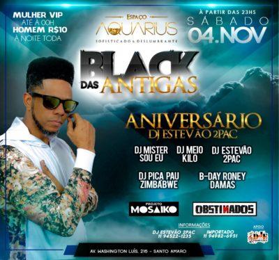 Projeto Black das Antigas comemora aniversário do DJ Estevão 2Pac #nota