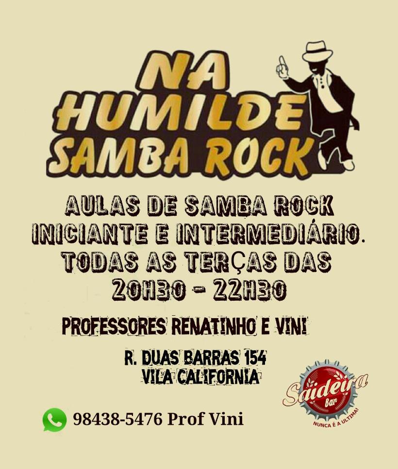 Faça aulas de samba rock pelo projeto Na Humilde Samba Rock #nota