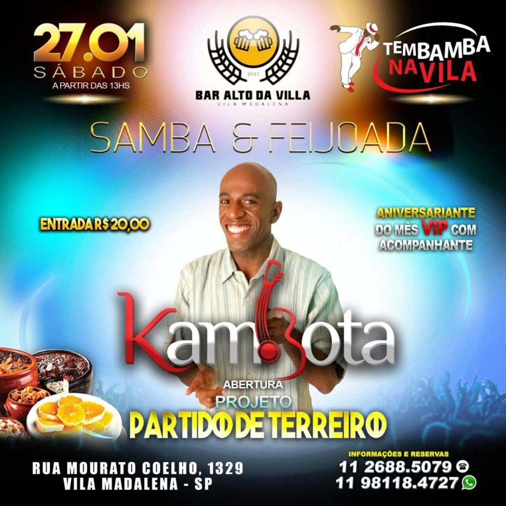 Inauguração do Projeto Partido de Terreiro no Tembamba na Vila com Kambota  #nota