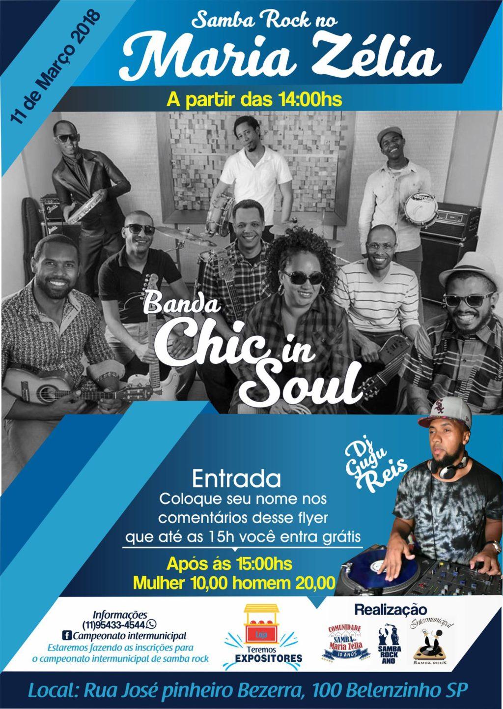 Samba Rock no Maria Zélia com banda Chic in Soul e DJ Gugu Reis #nota