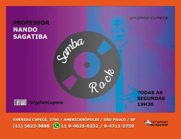 Faça aulas de samba rock com o professor Nando Sagatiba #nota