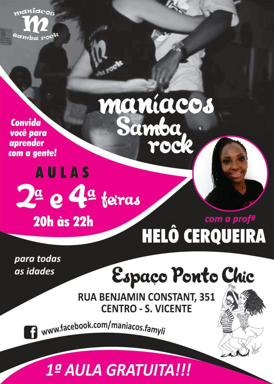 Faça aulas de samba rock com Helô Cerqueira do projeto Maníacos Samba Rock #nota