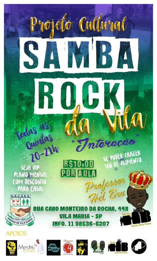 Projeto cultural Samba Rock da Vila oferece aulas de samba rock às quintas na zona norte de SP #nota