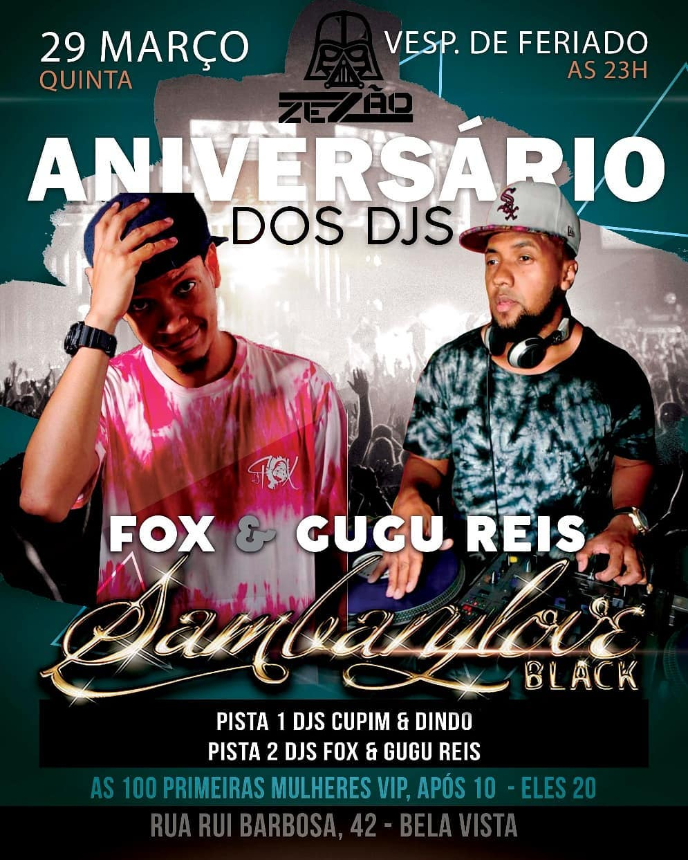 DJs Fox e Gugu Reis comemoram aniversário no Sambarylove #nota