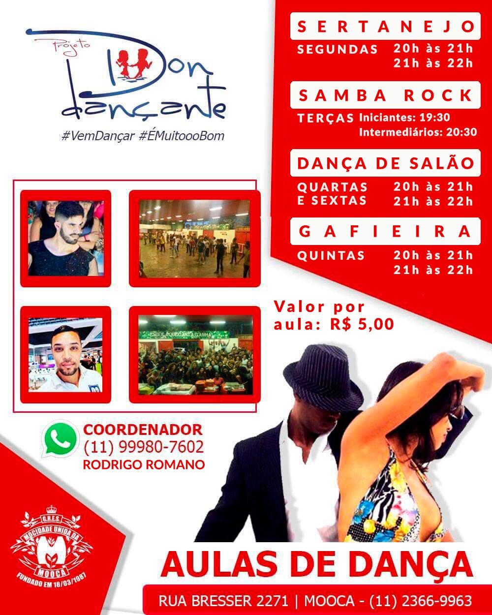 Aulas de samba rock às terças integra programação do projeto DON Dançante #nota