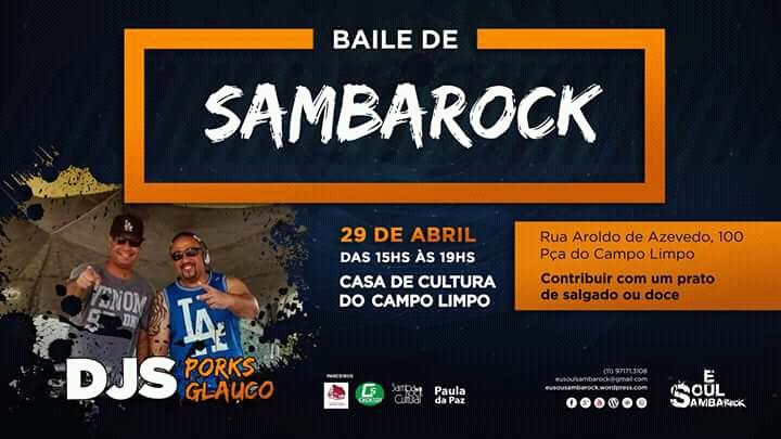 Casa de Cultura do Campo Limpo recebe Baile de Samba Rock #nota